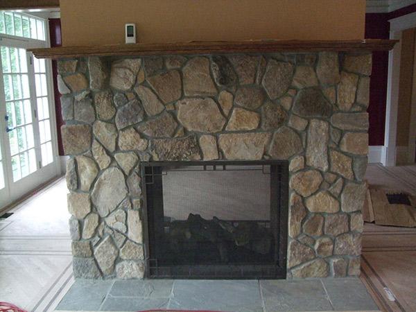 Fireplace Stone Application